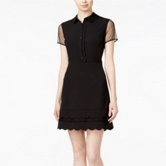 edb6083d Maison Jules Dresses | Scalloped Illusioncontrast Dress | Poshmark